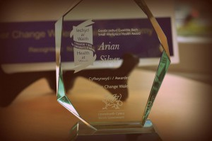 Silver award glass